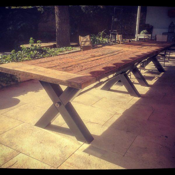 Grande Table Bois et Métal