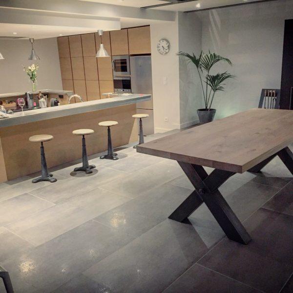 table bois metal lyon vitadeco industrielle