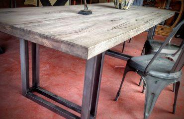 Table Industrielle Bois et Métal Lyon