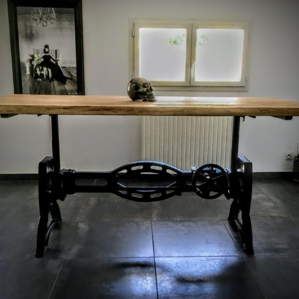 Table Industrielle à Manivelle Vitadeco