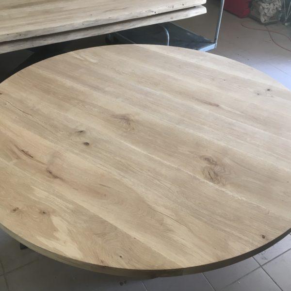 Table Bois et Métal Ronde