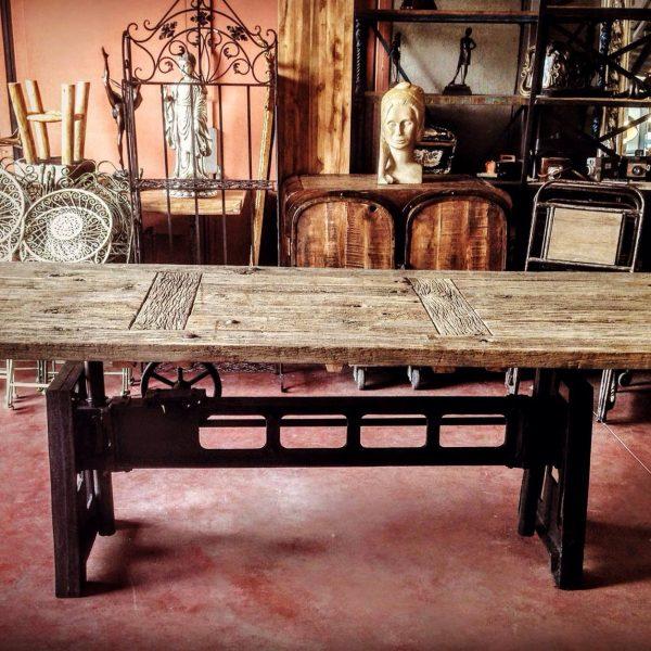 Table de Salon à Manivelle