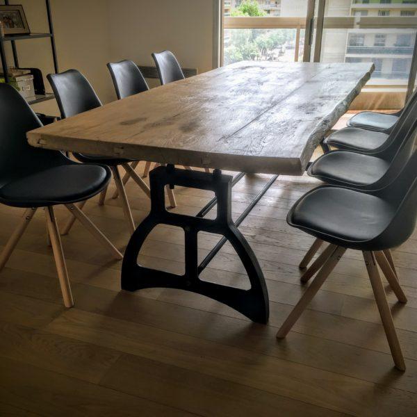 Table et Chaises Industrielle Lyon
